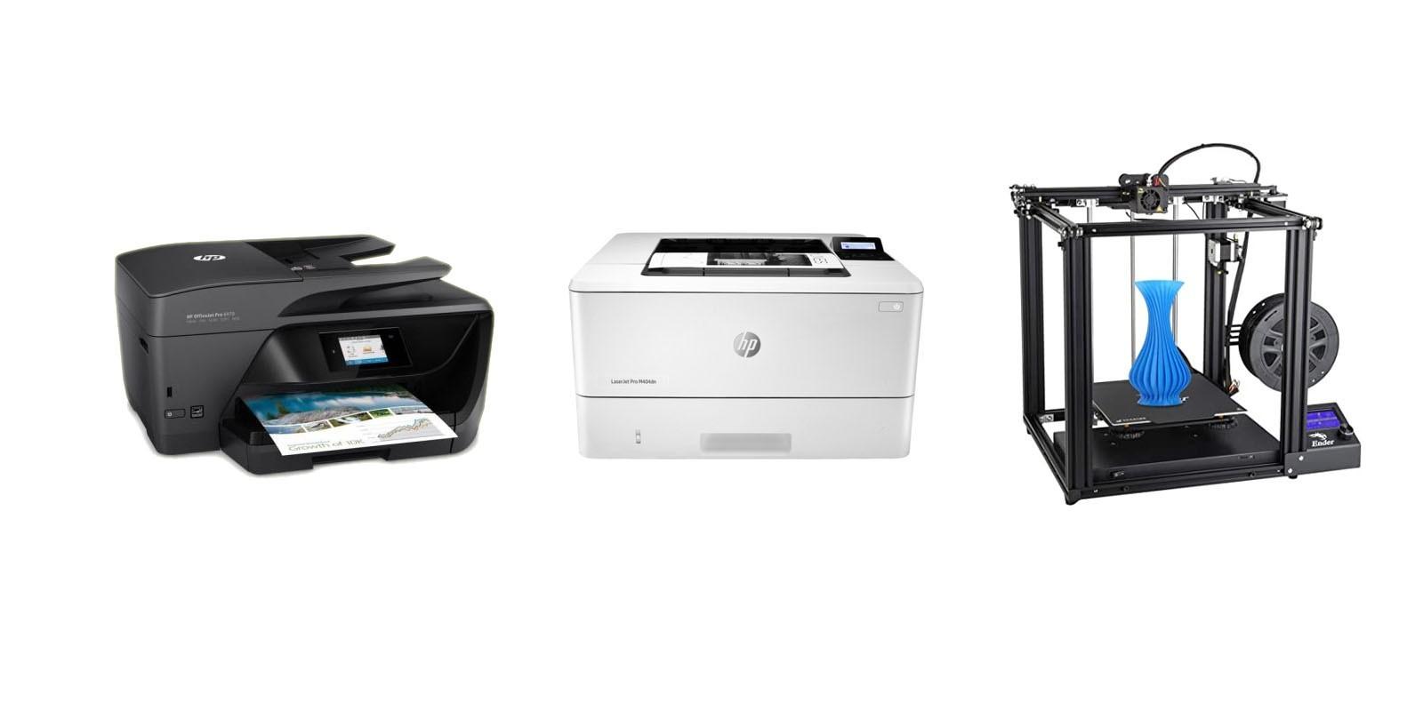 Nos différents modèles d'imprimantes